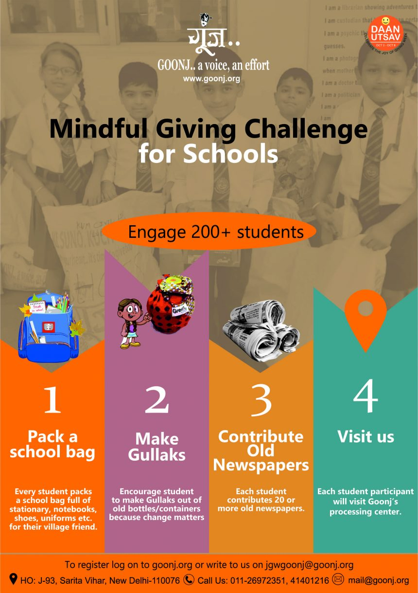 Mindful Giving Challenge for Schools