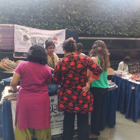 Navya during GBG stall in Mumbai